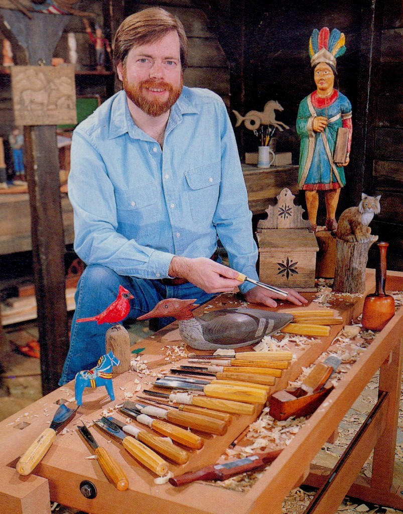 Wood carver Rick Butz